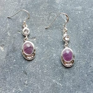 Celtic Diamond Flourite Rainbow Earrings