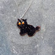 Kitty Pendant-Black