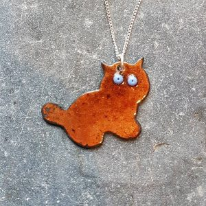 Kitty Pendant-Brown