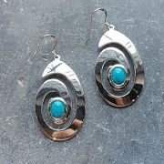 Celtic Spiral Turquoise Quartz Earrings