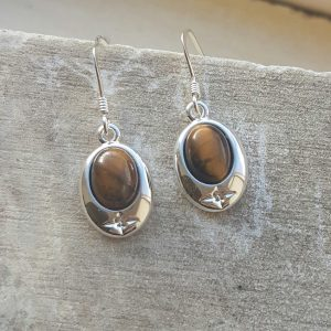 Celtic Tigers Eye Earrings